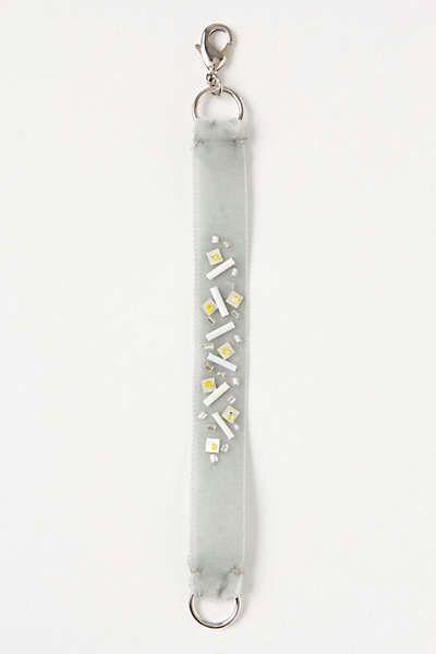 Anthropologie - DIY Beaded Velvet Bracelet
