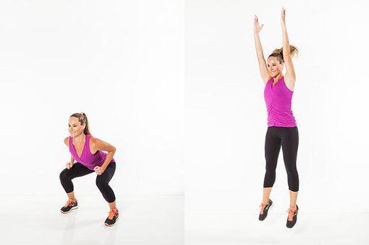 2. Squat Jumps