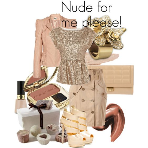 nude for me please, created by papadimitriou-alexandra on Polyvore