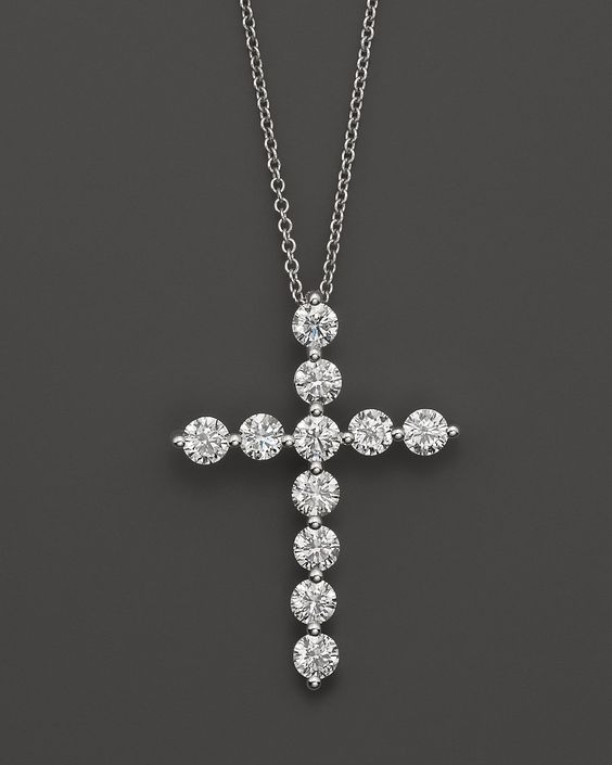 beautiful diamond cross necklace!