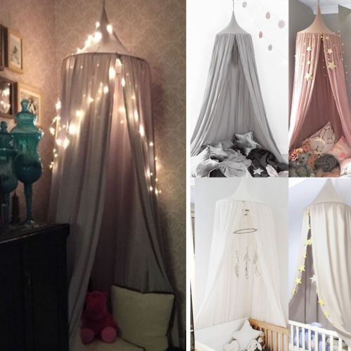 Baby Kids Bed Canopy Bedcover Mosquito Net Curtain Bedding Dome Tent Home Decor