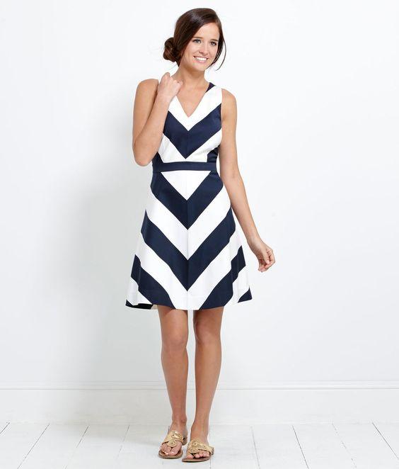 Shop Womens Summer Dresses: Awning Stripe Halter Dress - Vineyard ...