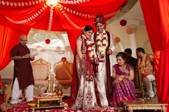 indian wedding bride groom ceremony traditional http://maharaniweddings.com/gallery/photo/4989