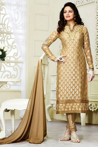 Peach #Yellow Brasso Embroidered Casual #ChuridarKameez Sku Code:63-5428SL55184 US $ 40.00 http://www.sareez.com/product_info.php?products_id=168927