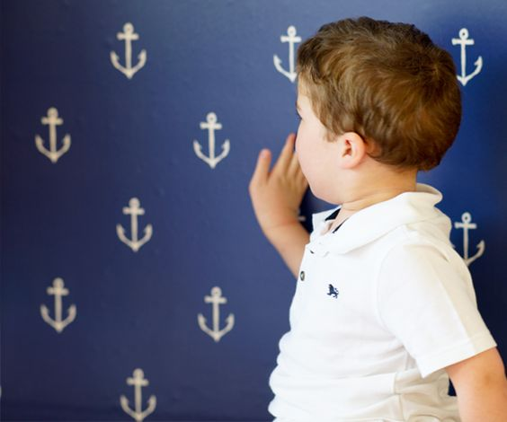 We just love this nautical anchors wall decal from @popandlolli! Perfect to create a fun accent wall in the nursery, kids room or playroom.
