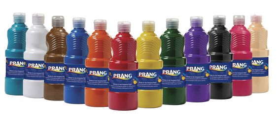 Prang Non-Toxic Ready-to-Use Liquid Tempera Paint Set, 1 pt Squeeze Bottle, Assorted Bright Bold Color, Set of 12 #mycdwishlist
