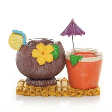 Hawaiian Holiday : Tropical Drinks Double Tea Light Candle Holder : Yankee Candle