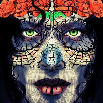 La_Santa_Muerte. Digital painting