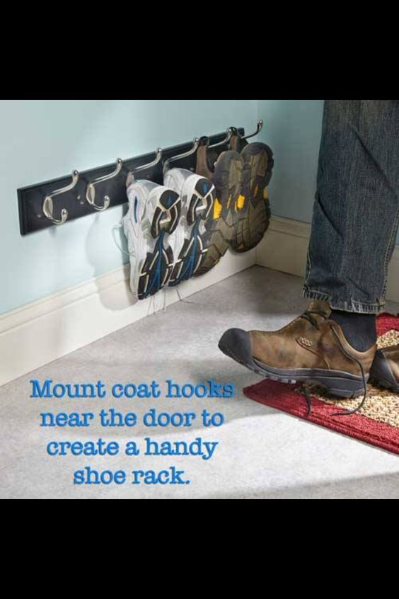 Coat Hook Shoe Rack