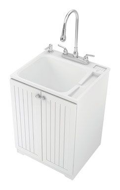 All In One Laundry Sink Cabinet : Laundry Tubs : American Shower All In One Utility Sink And Cabinet. $ ...