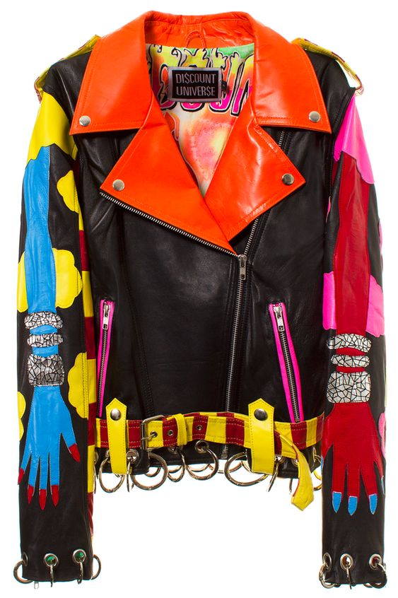 DISCOUNT UNIVERSE DREAMS N SCREAMS BIKER JACKET Leather jacket