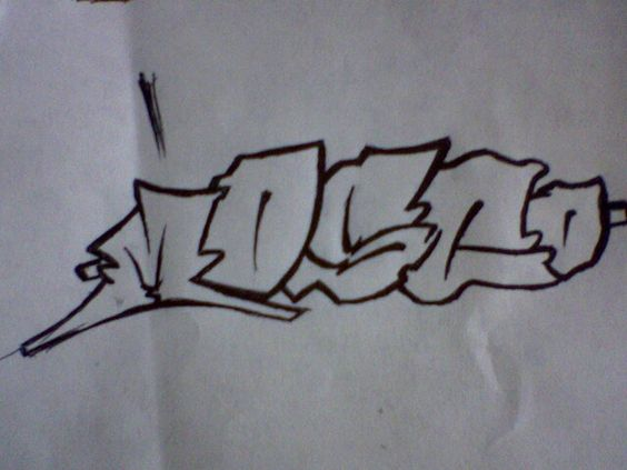 Dibujo drawing graffiti pencil sketch boceto letters
