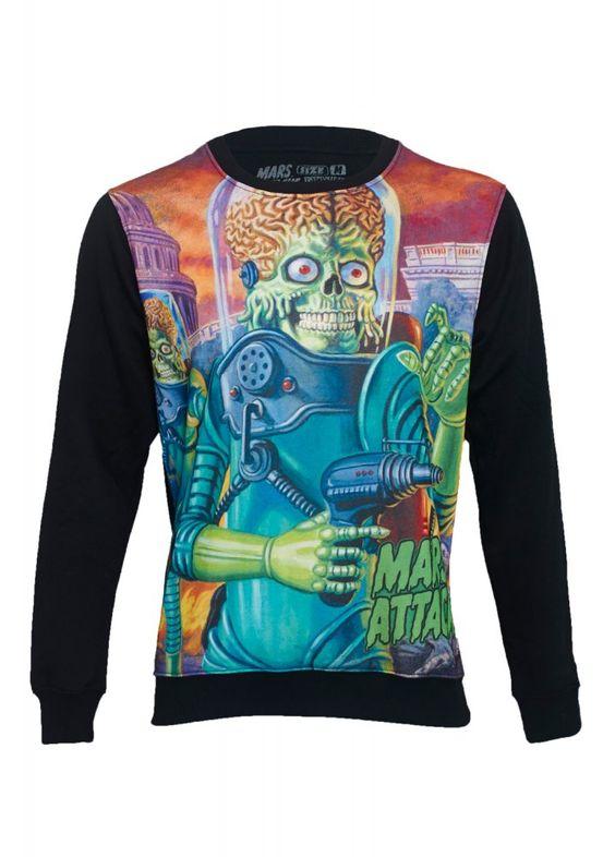 Kreepsville 666 Mars Attacks Congress Sweatshirt | Attitude Clothing