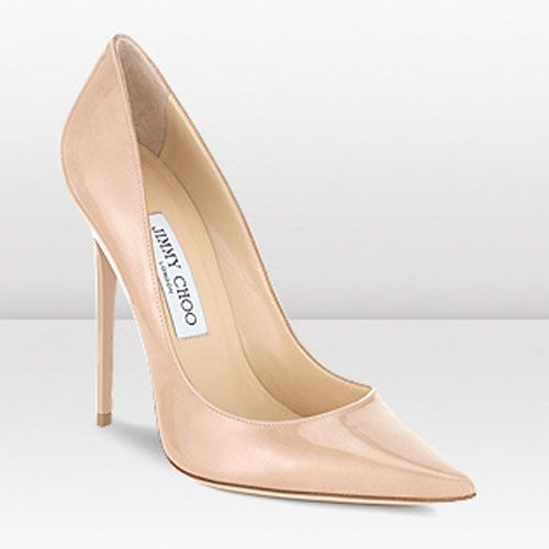Australia Sale Jimmy Choo Anouk 120mm Nude Patent Leather Stiletto