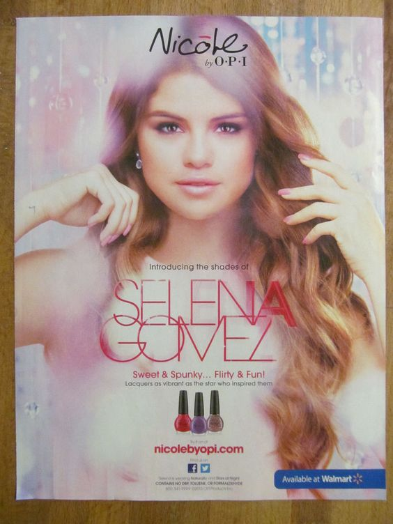 Selena Gomez, Full Page Ad, Nail Polis, Nicole By Opi