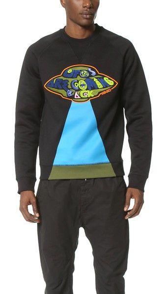 KENZO Tech Brushed Molleton Sweatshirt