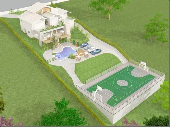 plantas de casas em terreno de declive com piscina  Pesquisa Google