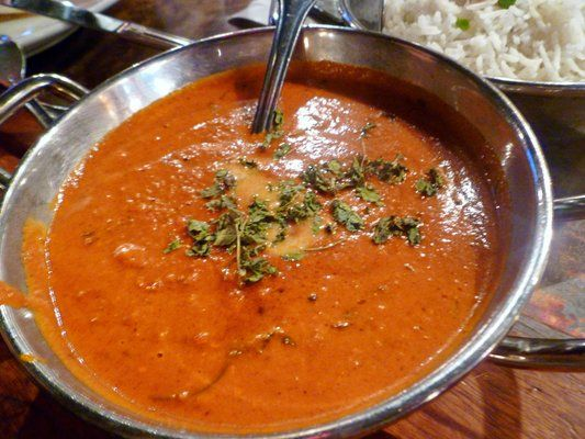 Butter masala from Bricklane Curry House in the East Village