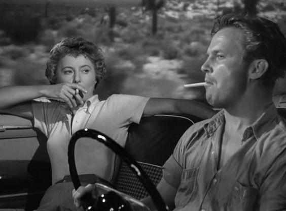 Barbara Stanwyck, Ralph Meeker [Jeopardy (1953)]
