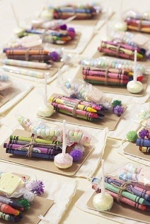 """27 Impossibly Fun Ways To Entertain Kids At Your Wedding: #1. Have a """"kids' table"""" and stock it with crayons… lots of crayons."""