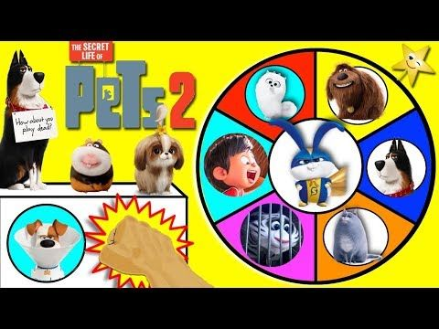 The Secret Life Of Pets 2 Spinning Wheel Game W Surprise Toys