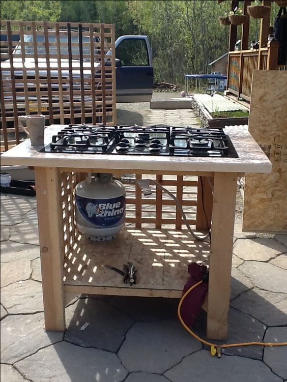 My outdoor stove log furniture pinterest stove i am for Diy cooking stove