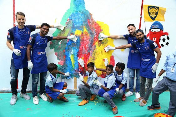Splatsoccer Art with Chennaiyin F.C.