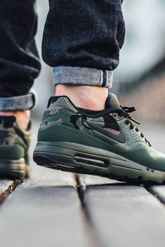 nike air max vent arrière 4 - NIKE Air Max 1 Ultra Moire Print Carbon Green | Style | Pinterest ...
