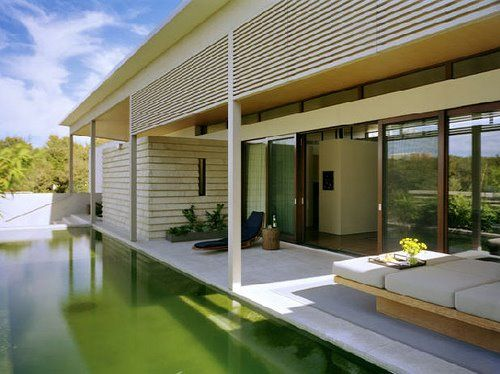 terrace and pool veranda.  Gluckman Mayner Architects based in New York City