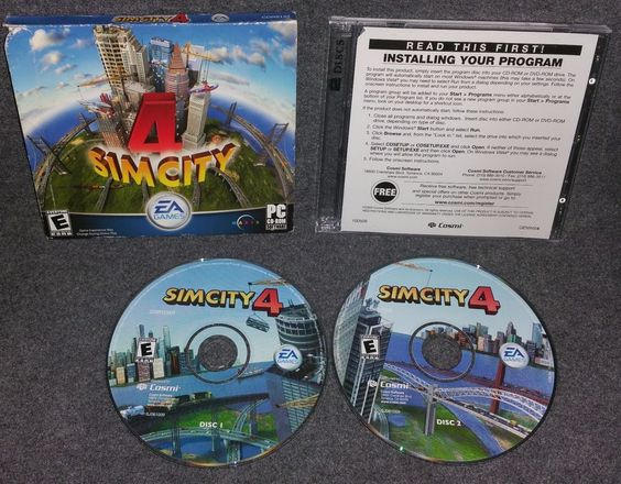 SimCity 4 (PC, 2003) Windows 98/ME/2000/XP Role Play Simulation RPG Life Online