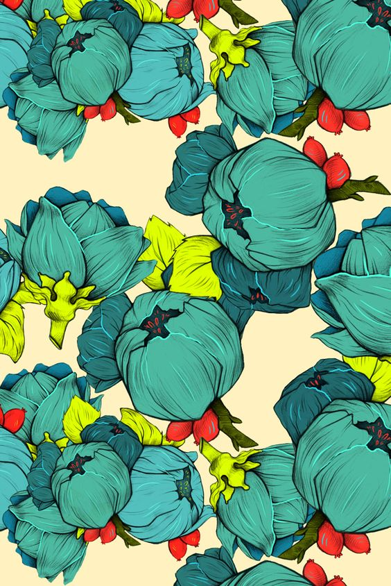 i love the use of colour in this pattern and the flowers give a a spring feel to it.