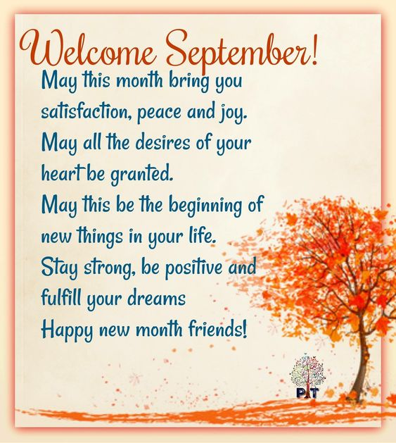 Unique Welcome September Wishes Quotes