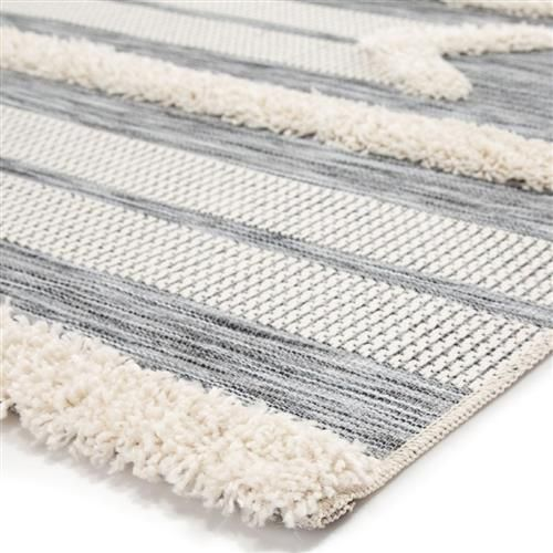 Ava Modern Classic Grey Ivory Linear Patterned Outdoor Rug 4 X 5 7 In 2020 Outdoor Rugs Indoor Outdoor Rugs Rugs