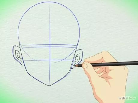 Imagem intitulada Draw Manga Faces in Basic Sketching Step 7