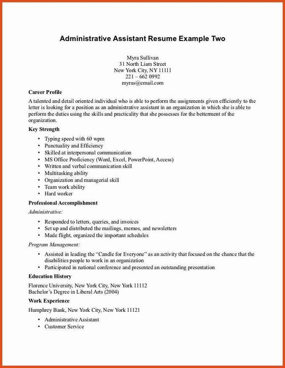 Pin By Nina On Work Hard Play Harder Administrative Assistant Resume Cover Letter For Resume Sample Resume