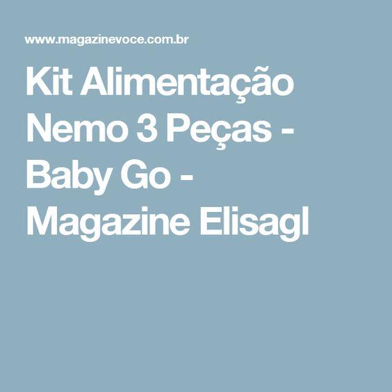 Kit Alimentação Nemo 3 Peças - Baby Go - Magazine Elisagl