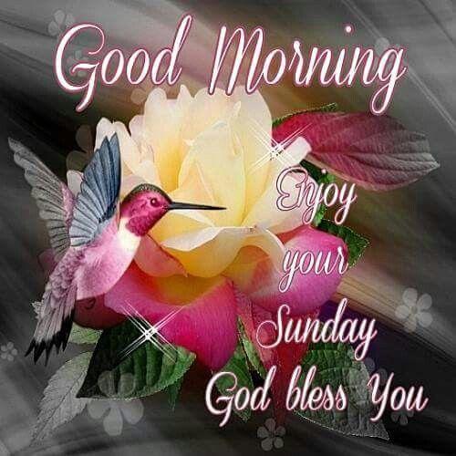 Good Morning, Enjoy Your Sunday. God Bless You.