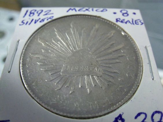 1892 Spanish 8 real large silver coin by DrewsCollectibles on Etsy, $46.00