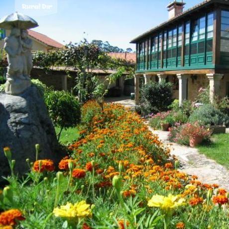 Galería jardín de la casa rural Casa de Marcelo