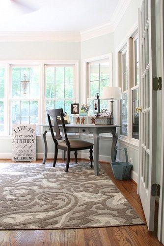 Grey desk--KITCHEN TABLE?