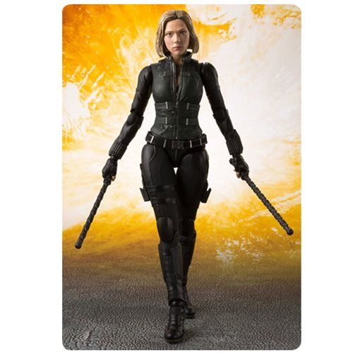 S.H Figuarts Avengers Infinity War Black Widow /& Tamash Explosion Action Figure