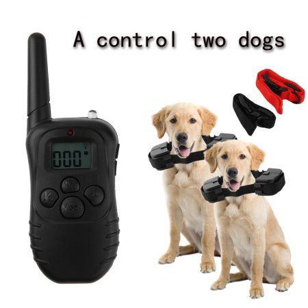Pet Dogs Trainning Tool Collar Battery Powered Rainproof Anti Bark