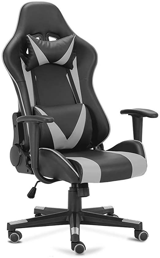 Ogefer Pc Gaming Chair Computer Chair Racing Style Ergonomic With Headrest Pillow Lumbar Support Armrest Home Offic In 2020 Computer Chair Gaming Chair Pc Gaming Chair