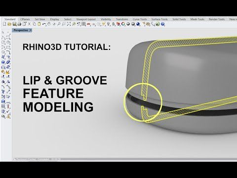 Rhino 3d Tutorial Lip Groove Modeling Product Design Youtube Solidworks Tutorial Tutorial 3d Tutorial