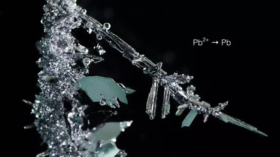 This timelapse video, directed by Italian student, Emanuele Fornasier, shows the microscopic chemical reactions that are produced during electrocrystallization.