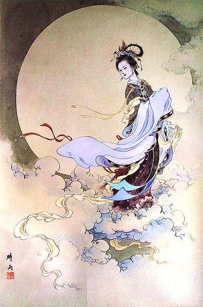 Chang'e es la diosa de la luna.: