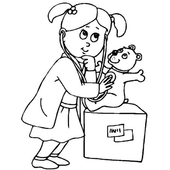 Www Preschoolcoloringbook Com Doctor Hospital Coloring Page