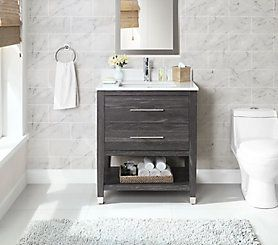 Glacier Bay Chesswood 30 Inch Vanity Combo In Grey Brown Ash The Home Depot Canada Home Depot Bathroom Vanity Vanity Combos 30 Inch Vanity 30 in vanity combo