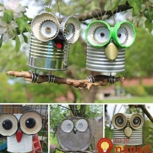Blechdosen Basteln Stehen Sie Einfach Vor Der T R Und Sie M Ssen Keine Anderen Dekorationsideen Mehr F R Herbsteu Tin Can Crafts Recycled Crafts Can Crafts