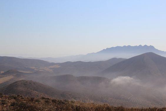 View from Pt. Mugu Mountain California